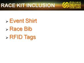 Race Kit Inclusions