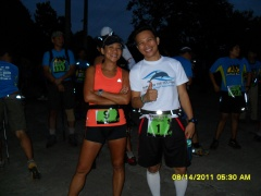 Zan and I became running friends long after this CDO Trail Run.